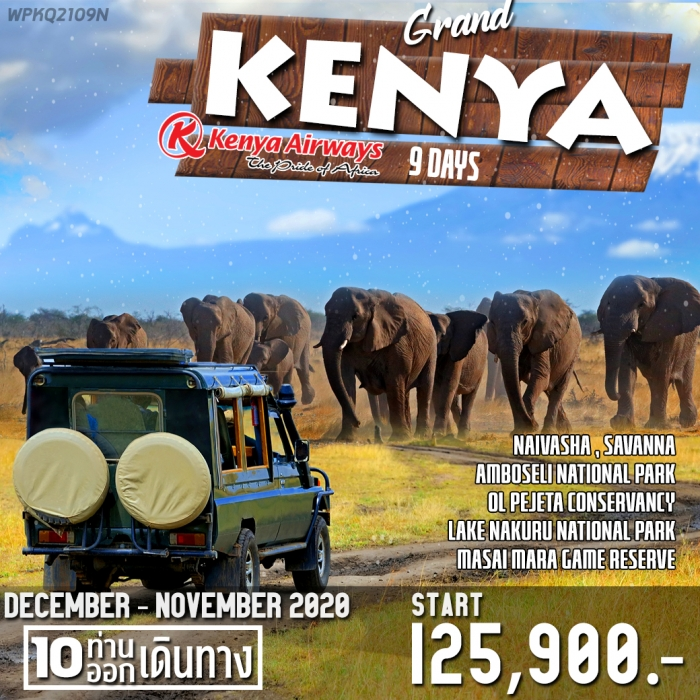 WPKQ2109N GRAND KENYA 9 DAYS KQ [NBO-NBO] MAY-NOV 2020
